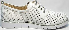 Модные белые туфли женские в английском стиле GUERO G177-63 White.