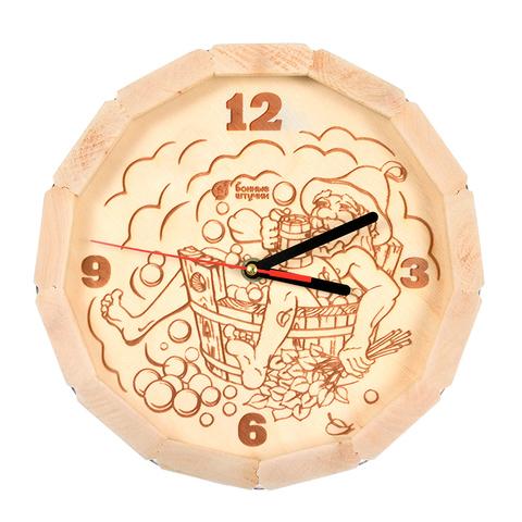 Часы кварцевые в форме бочки «В парилке» 27х8 см