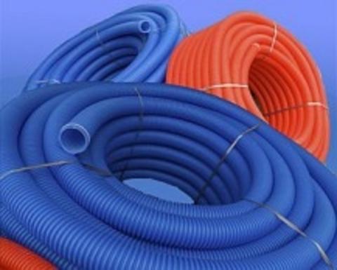 Труба гофр D16 (23/19) синий 100 м КОНТУР