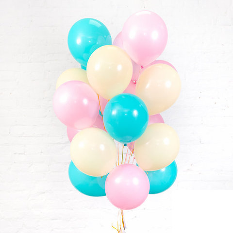 Воздушные шары с гелием Бирюзовая нежность