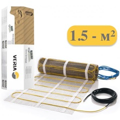 Электрический теплый пол под плитку. Тёплый пол двухжильный мат 225вт 1,5m2. Veria Quickmat-150. 189B0160