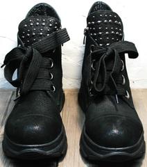 Ботинки кроссовки для повседневной носки женские демисезонные Rifellini Rovigo 525 Black.