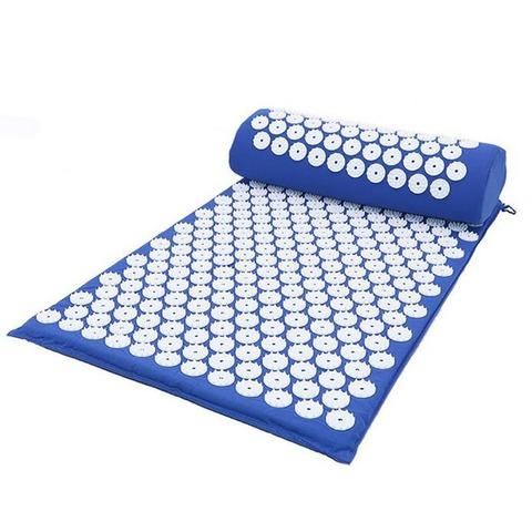 Массажный коврик Acupressure с подушкой (Синий)
