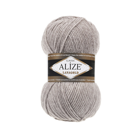 Пряжа Alize Lanagold 207 светло-коричневый