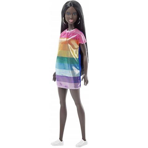 Барби в радужном платье. Игра с модой