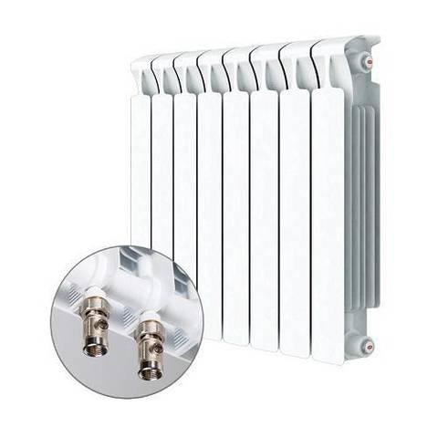 Радиатор биметаллический секционный Rifar Monolit Ventil 350 - 8 секций (подключение нижнее левое)