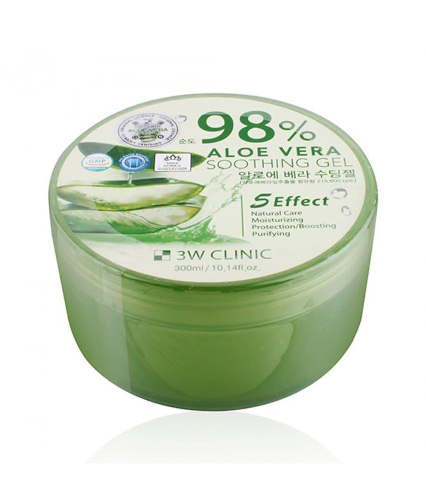 Гель с 98% содержанием экстракта алоэ вера - 3W Clinic Aloe Vera Soothing Gel