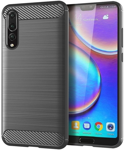 Чехол Huawei P20 Pro цвет Gray (серый), серия Carbon, Caseport