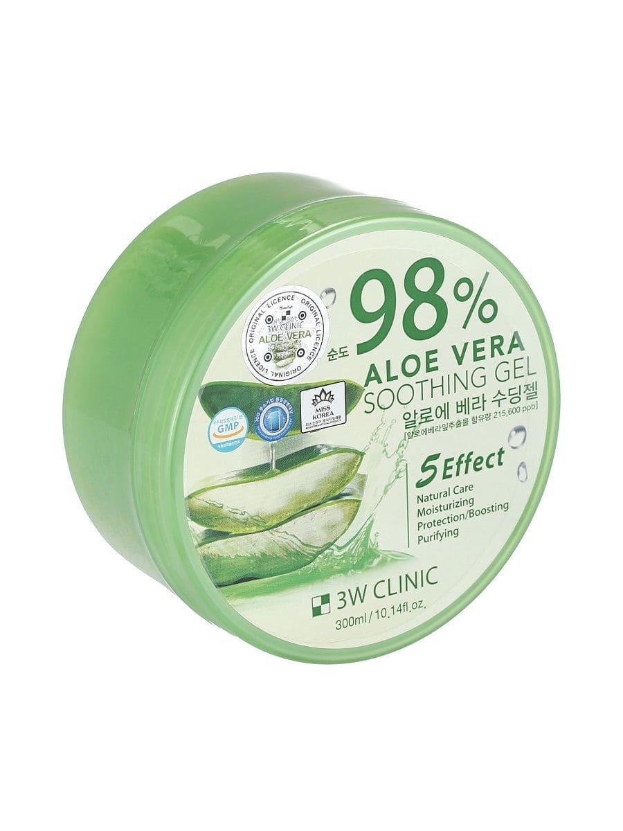 Универсальный гель с 98% содержанием экстракта алоэ - 3W Clinic Aloe Vera Soothing Gel