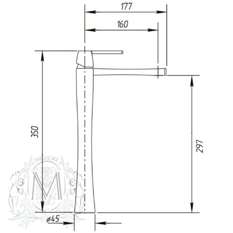 Смеситель для раковины высокий Migliore Opera ML.OPR-6017 схема