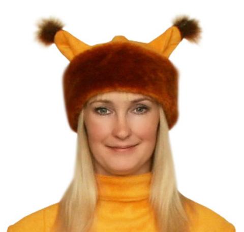 Карнавальная шапка Белки