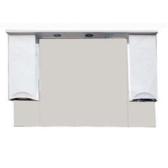Зеркало-шкаф SanMaria Милан-120 красный, 2 ящика