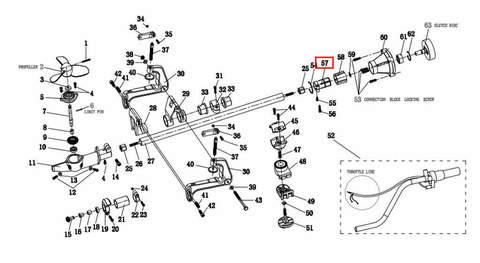 Зажим хомут корпуса подшипника Ø28 для лодочного мотора T2 SEA-PRO
