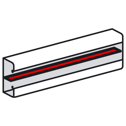 Кабель-канал 160/130/100/85x50 Перегородка Разделительная перегородка Длина 2 м. Цвет Белый. Legrand Metra (Легранд Метра). 638008