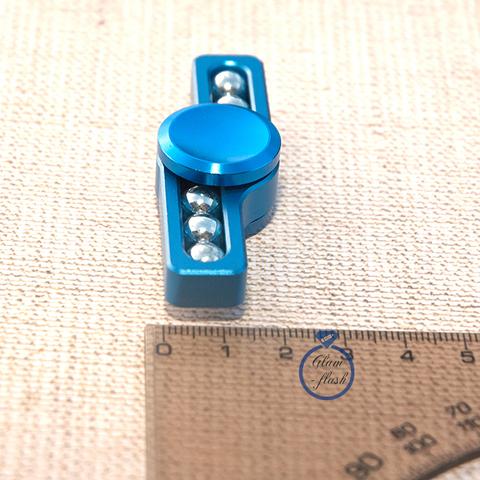 Спиннер из металла с шариками голубого цвета 17001M_blue