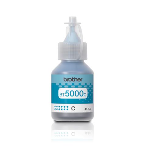 Brother BT5000С: оригинальная бутылка с голубыми чернилами