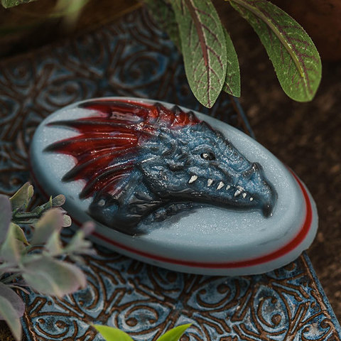 Пластиковая форма для мыла Дракон. Готовая работа