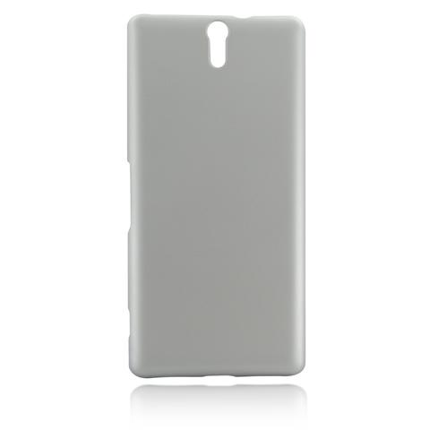Пластиковая накладка для Xperia C5 Ultra серебристого цвета