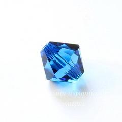 5328 Бусина - биконус Сваровски Capri Blue 8 мм