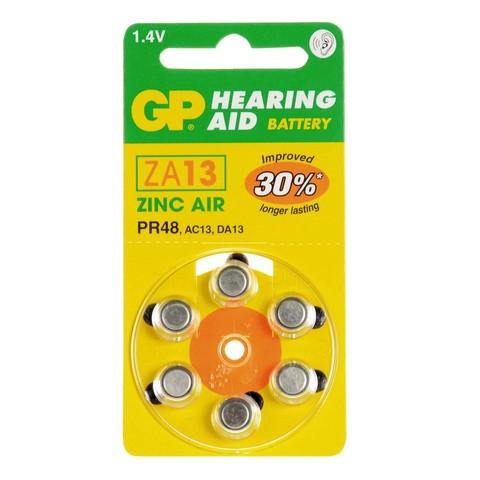 Батарейки для слуховых аппаратов GP ZA13-D6