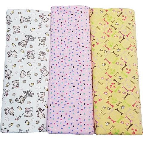 Папитто. Комплект трикотажных пеленок из футера для девочки 130х90 см, 3 шт.