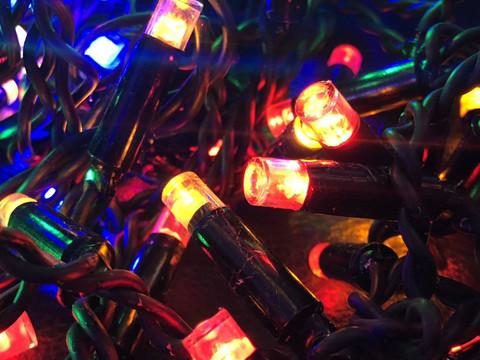 Дощ-гірлянда Вуличний 144 LED BX 5 м. синій