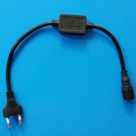 Шнур питания силовой для 2-х проводного дюралайта Ø 13 мм. Эконом.