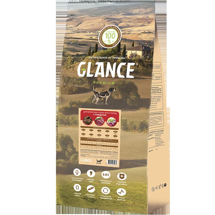 Glance Сухой корм для собак Glance с говядиной Glance_dog_beef.png