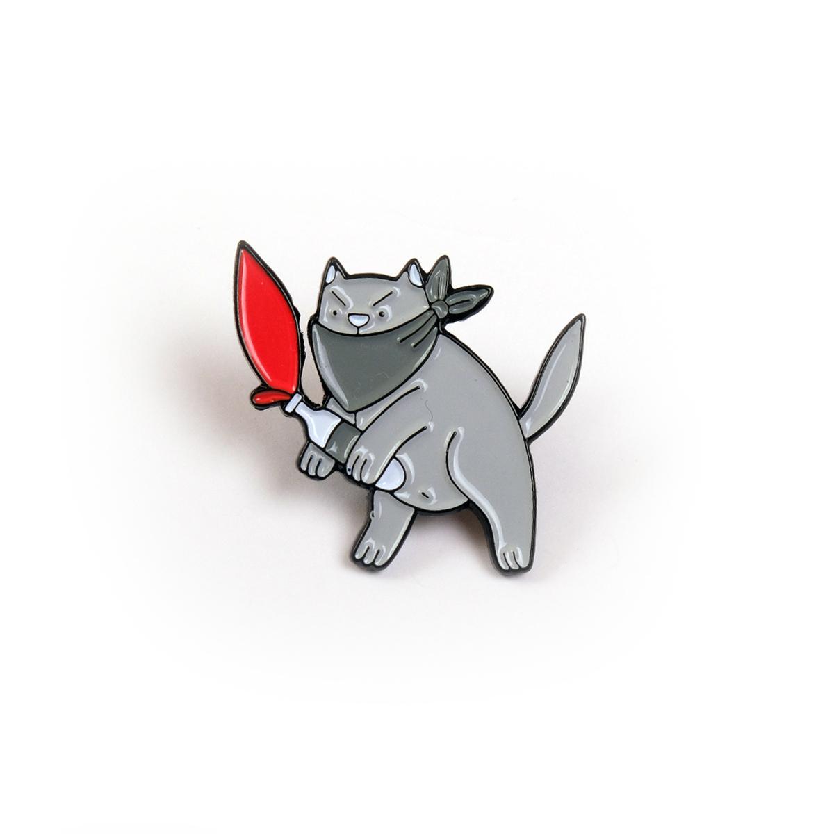 Кот молотова / значок