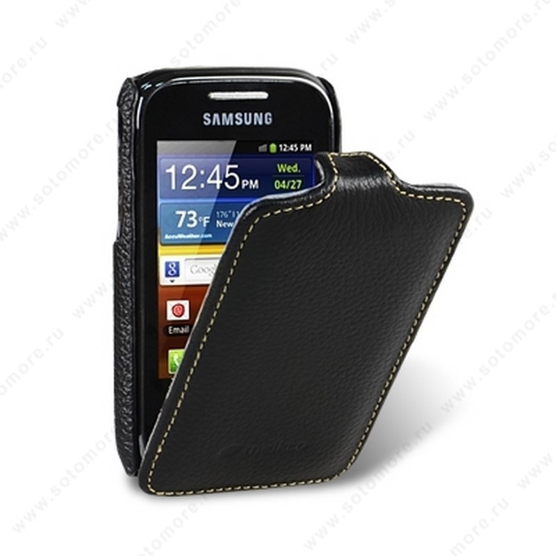 Чехол-флип Melkco для Samsung Galaxy Pocket S5300/ i339 Leather Case Jacka Type (Black LC)