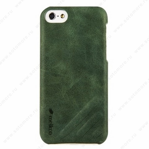 Накладка Melkco кожаная для iPhone 5C Leather Snap Cover Craft Limited Edition Prime Dotta (Classic Vintage Green)