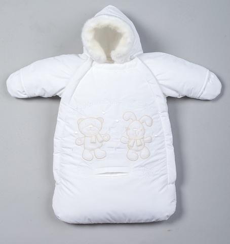 Меховой конверт для новорожденного «Зимние развлечения»
