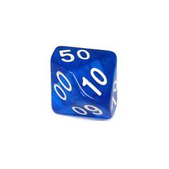 Куб D% прозрачный: Синий