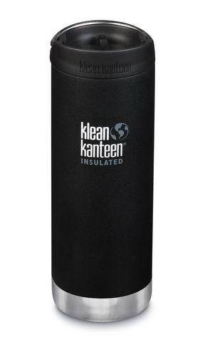 Термобутылка Klean Kanteen TKWide Cafe Cap 16oz (473 мл) Shale Black