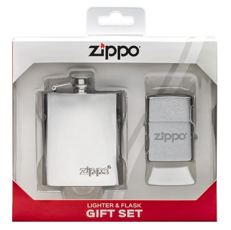 Подарочный набор: фляжка 89 мл и зажигалка «Zippo» недорого