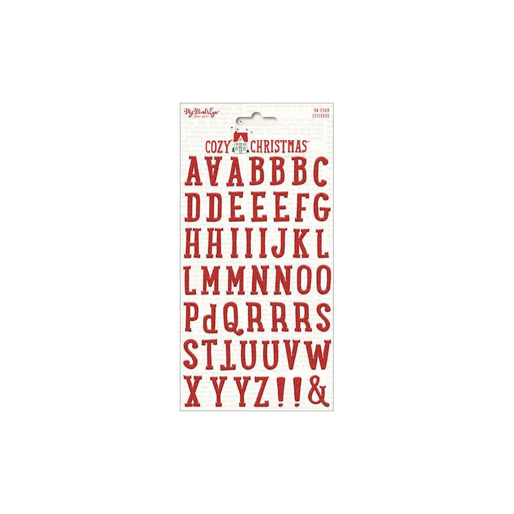 Объемный чипборд алфавит Cozy Christmas