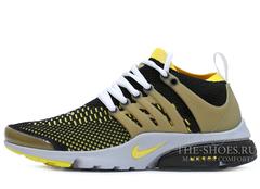 Кроссовки Мужские Nike Air Presto Ultra Flyknit Black Yellow White