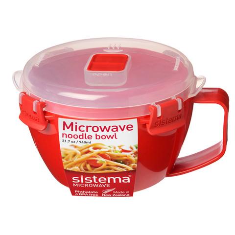 """Кружка для приготовления лапши в СВЧ Sistema """"Microwave"""" 940 мл"""