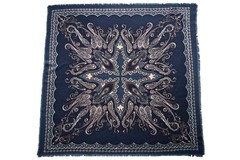 Шерстяной женский синий платок (0076 PLATOK 8)