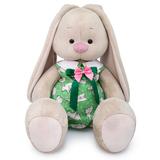 Зайка Ми Большой в зеленом комбинезоне с кроликами