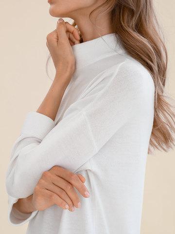 Женское платье молочного цвета из 100% шерсти - фото 5