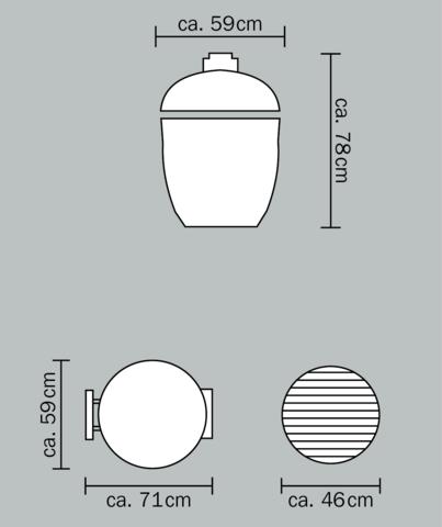 Керамический гриль Monolith Classic PRO большой (черный)