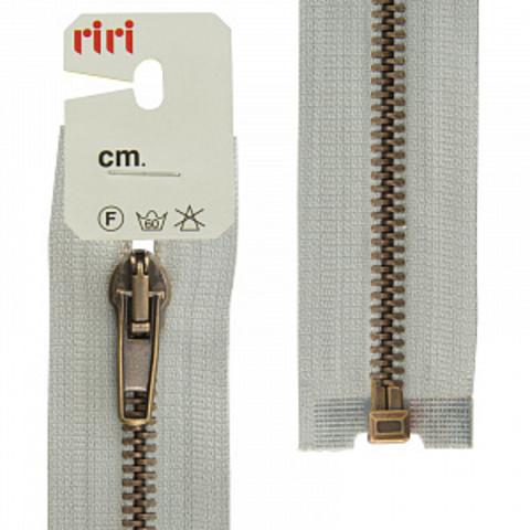 Молния металл, AT, слайдер 5 мм , разъемная 1 замок, 60 см, цвет  тесьмы 2118, светло-серый (арт 2513094/60/2118)