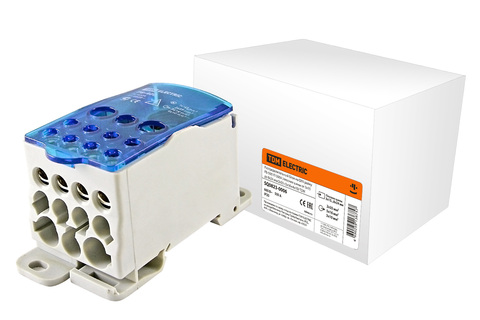 Распределительный блок на DIN-рейку РБ-500 1П 500А (плоские шины от 3х15 до 8х24/2x35+5x16+4x10) TDM