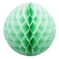 Бумажное украшение шар 20 см салатовый