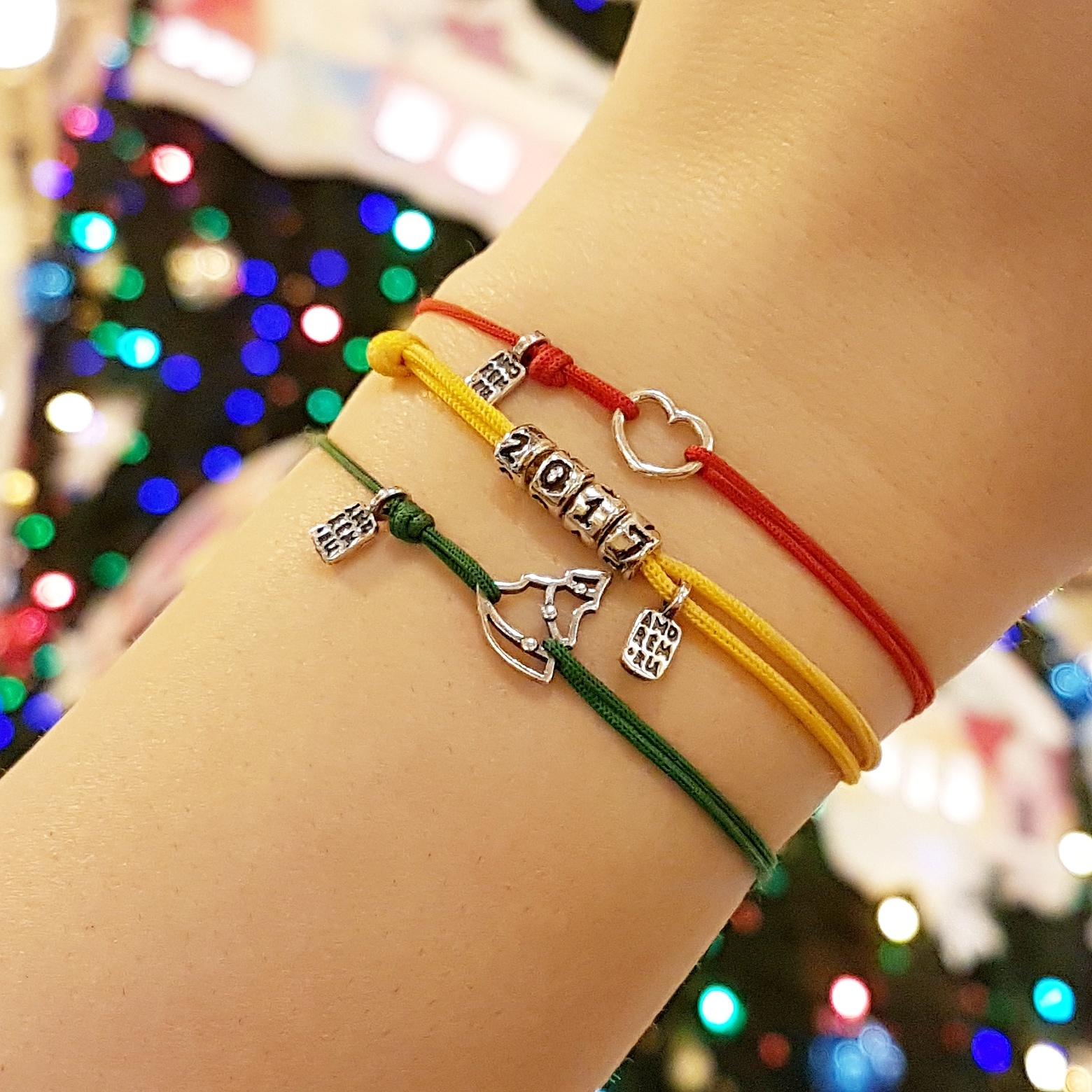 Christmas Tree bracelet, sterling silver