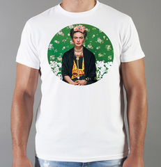 Футболка с принтом Фрида Кало (Frida Kahlo) белая 0013