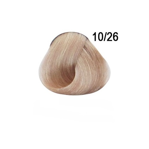 Перманентная крем-краска для волос Ollin 10/26 светлый блондин розовый