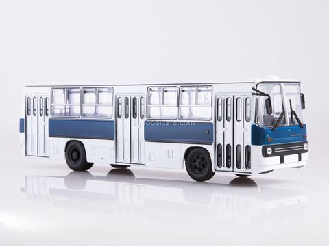 Ikarus-260 white-blue Soviet Bus (OWL) 1:43