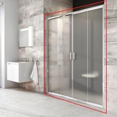 Дверь душевая раздвижная в нишу 130х190 см Ravak Blix BLDP4-130 0YVJ0100Z1 фото
